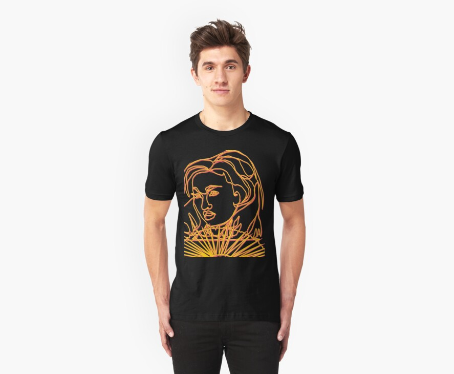 TSHIRT Oriental Girl With Fan by Dominic Melfi