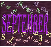 Birth Month - September Special effects Photographic Print