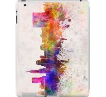 Indianapolis skyline in watercolor background iPad Case/Skin