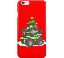 Christmas tree bear iPhone Case/Skin
