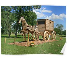 World's Largest Horse And Buggy Poster