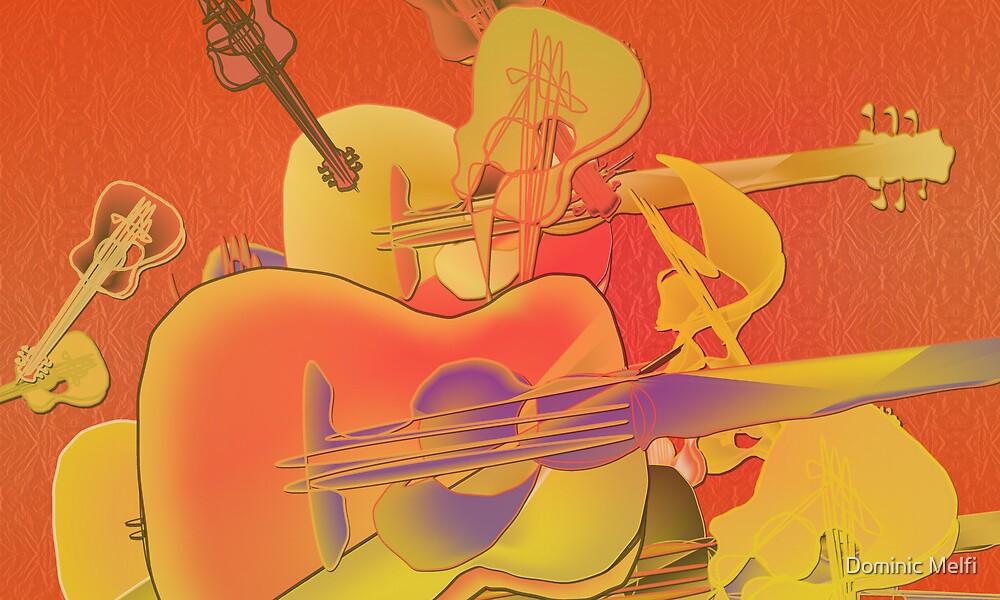 Orange Guitar by Dominic Melfi