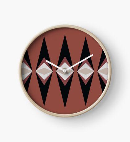 Tribal Diamond Clock