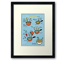 Dahl Soup recipe Framed Print