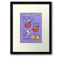 Lemon Curd recipe Framed Print