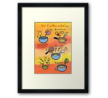 Red & Yellow Salad recipe Framed Print