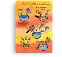 Red & Yellow Salad recipe Canvas Print