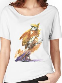 Owl and Guitar Women's Relaxed Fit T-Shirt