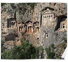 Lycian Tombs at Dalyan Close Up Poster