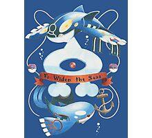 Team Aqua Crest  Photographic Print