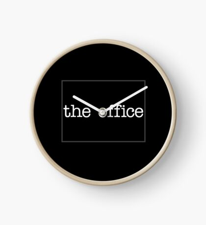 The Office (Black) Clock