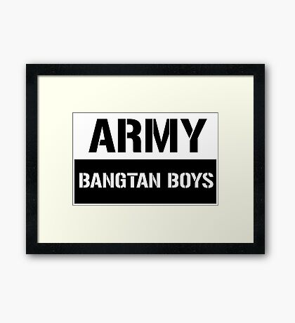 Bangtan Boys _ ARMY Framed Print