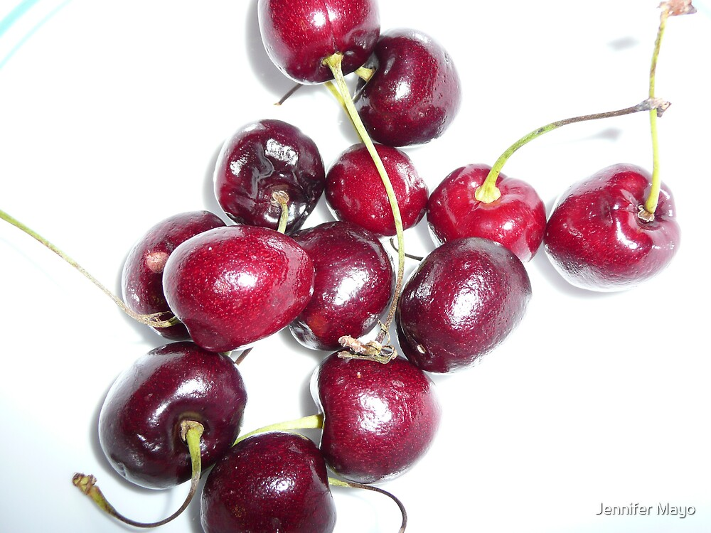 Bowl Full of Cherries by Jennifer Mayo