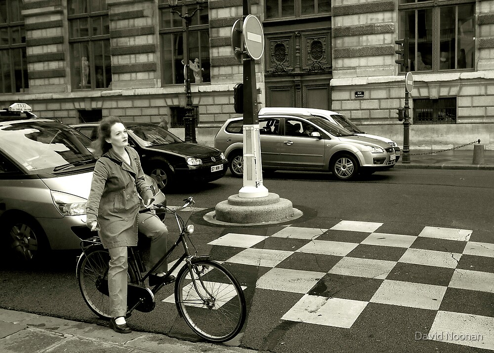At the red light by David Noonan