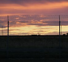 Military Base Sunset by Jennifer Mayo