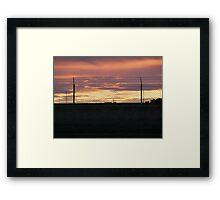 Military Base Sunset Framed Print