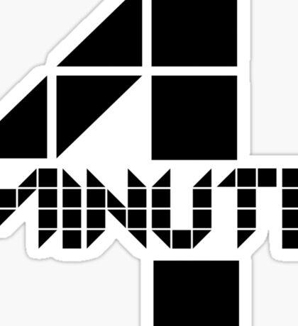 4minute logo black Sticker