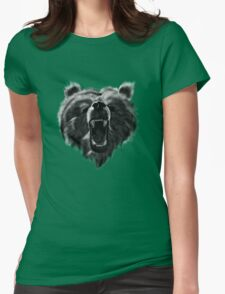 An angry bear ! Womens Fitted T-Shirt