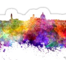 Florence skyline in watercolor Sticker
