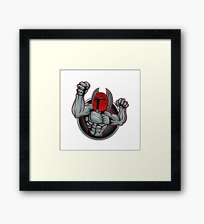 Spartan Trojan illustration. Framed Print