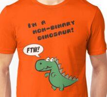 Non-binary dinosaur Unisex T-Shirt