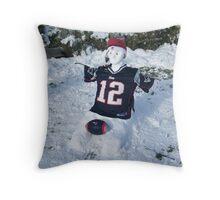 A NEW ENGLAND Patriot Snowman  Throw Pillow