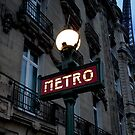 métro in the blue hour by Michele Roohani