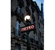 métro in the blue hour Photographic Print