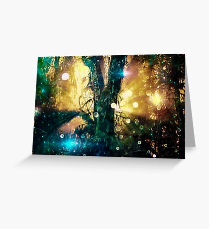 Magical Forest Tree of Life - Olympic National Park Hoh Rainforest Greeting Card