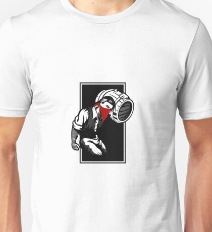 Thief illustration with wine cask Unisex T-Shirt
