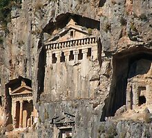 Lycian Tombs Cut From Rock Circa 400 BC by taiche