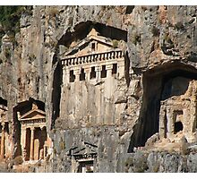 Lycian Tombs Cut From Rock Circa 400 BC Photographic Print