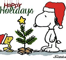 Peanuts- Christmas with Snoopy and Woodstock by Dominique Demetz