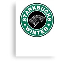 Starkbucks - Game of thrones house stark parody Canvas Print