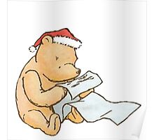 Pooh - Making a List Poster
