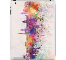 Belfast skyline in watercolor background iPad Case/Skin