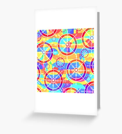 Colorful helms Greeting Card