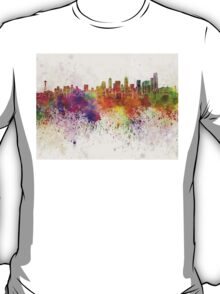 Seattle skyline in watercolor background T-Shirt