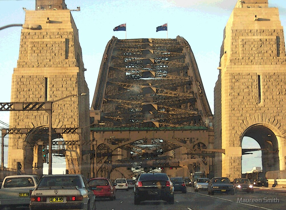Approach to Sydney Harbour Bridge, Australia by Maureen Smith