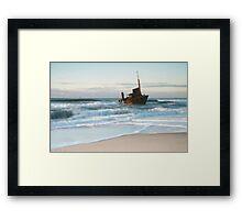 The Wreck of the Sygna - Stockton Beach, NSW Framed Print
