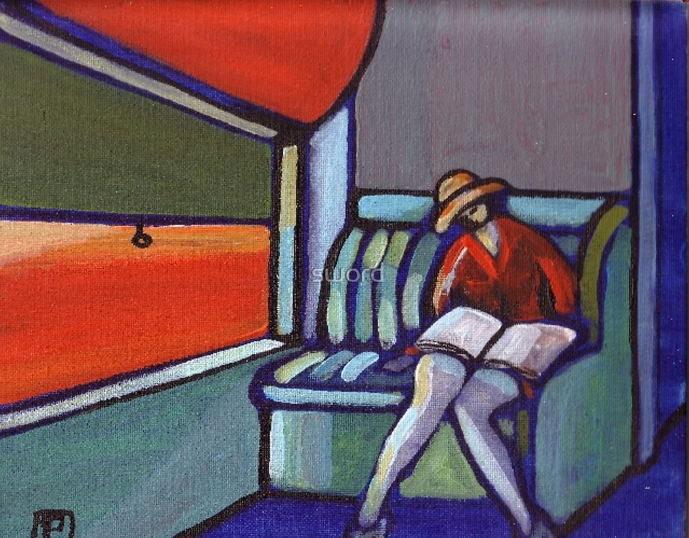 Night train (from my original acrylic painting) by sword