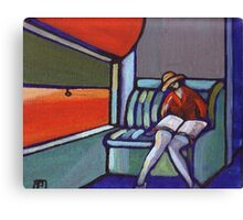 Night train (from my original acrylic painting) Canvas Print