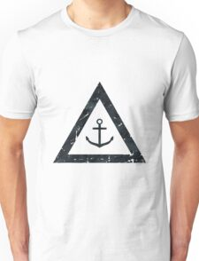 Vintage Anchor Black and White Nautical Decor Unisex T-Shirt