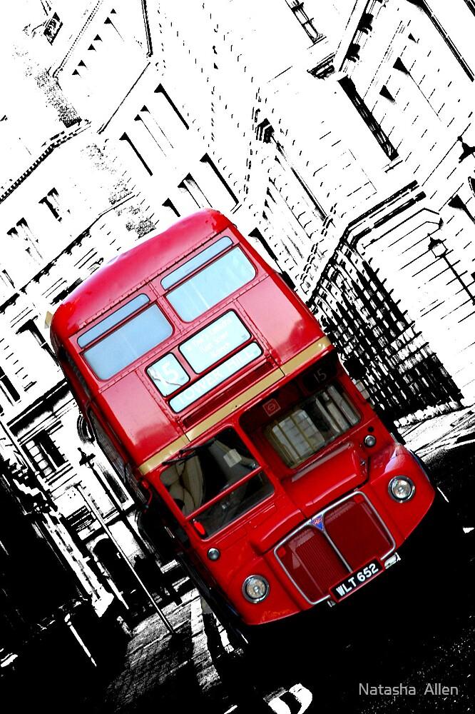 Red Bus by Natasha  Allen