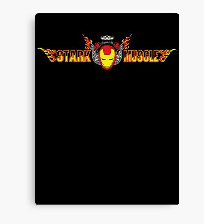 Stark Muscle (better for different color shirts) Canvas Print