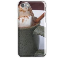 HOT CHOCOLATE ANYONE WITH MARSHMALLOWS  iPhone Case/Skin
