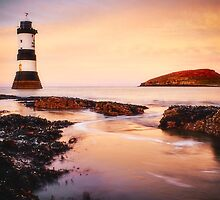 Autumn Sunset over Penmon by James Daly