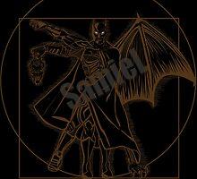 Vitruvian Bats ( Black variant)  by Samiel