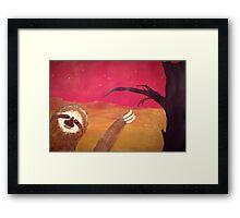 Photobombing Sloth Framed Print