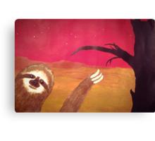 Photobombing Sloth Canvas Print